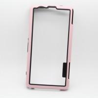 Силиконовый усиленный бампер для Sony Xperia Z1 Compact Розовый