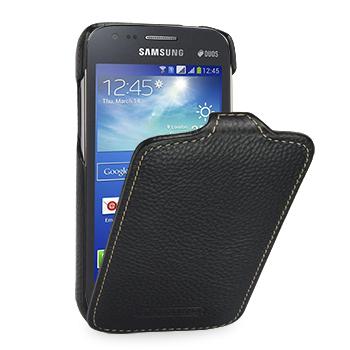Кожаный чехол книжка вертикальная (нат. кожа) для Samsung Galaxy Ace 3