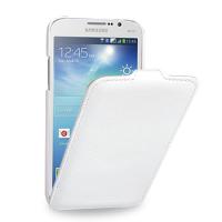 Кожаный чехол книжка (нат. кожа) для Samsung Galaxy Mega 5.8 GT-I9152 белая