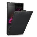 Кожаный чехол книжка вертикальная (нат. кожа) для Sony Xperia C