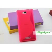 Силиконовый чехол S для Sony Xperia C Розовый