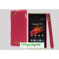 Пластиковый чехол для Sony Xperia M Розовый