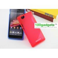 Силиконовый чехол S для Sony Xperia M Красный