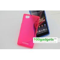 Силиконовый чехол S для Sony Xperia M Розовый