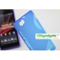 Силиконовый чехол S для Sony Xperia M Голубой