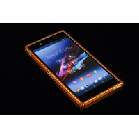 Металлический бампер для Sony Xperia Z Ultra Оранжевый