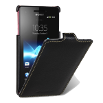Чехол кожаный книжка вертикальная для Sony Xperia V