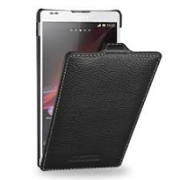 Чехол кожаный книжка вертикальная (нат. кожа) для Sony Xperia ZL