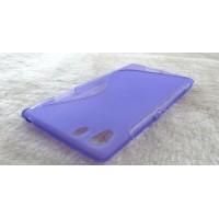 Силиконовый чехол S для Sony Xperia Z1 Фиолетовый