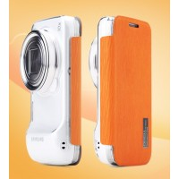 Чехол флип для Samsung Galaxy S4 Zoom Оранжевый