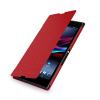 Кожаный чехол книжка горизонтальная (нат. кожа) для Sony Xperia Z Ultra красная
