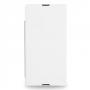 Кожаный чехол книжка горизонтальная (нат. кожа) для Sony Xperia Z Ultra белая
