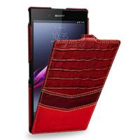 Эксклюзивный кожаный чехол книжка вертикальная (3 вида нат. кожи) для Sony Xperia Z Ultra