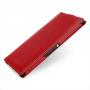 Кожаный чехол книжка вертикальная (нат. кожа) для Sony Xperia Z Ultra красная