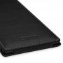Кожаный чехол книжка вертикальная (нат. кожа) для Sony Xperia Z Ultra черная