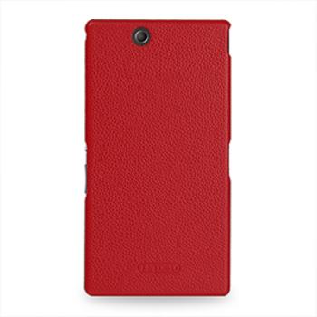 Накладка кожаная Back Cover (нат. кожа) для Sony Xperia Z Ultra красная