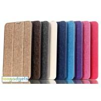 Текстурный чехол флип подставка сегментарный на пластиковой полупрозрачной основе для ASUS FonePad 7