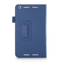 Чехол подставка с рамочной защитой и внутренними отсеками для Asus MeMO Pad 8 (ME581CL) Синий