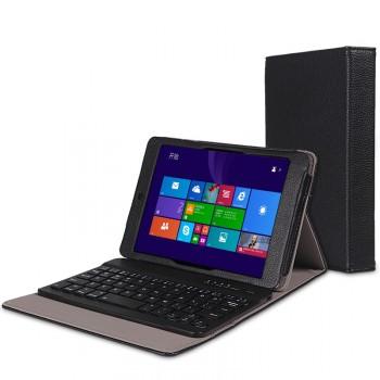 Кожаный чехол подставка (нат. кожа) с Bluetooth клавиатурой (English) для Lenovo Miix 3 8