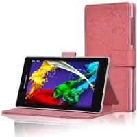 Чехол подставка текстурный для Lenovo Tab 2 A7-30 Розовый