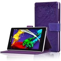 Чехол подставка текстурный для Lenovo Tab 2 A7-30 Фиолетовый
