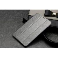 Текстурный чехол флип подставка сегментарный на пластиковой полупрозрачной основе для Acer Iconia Tab 7 A1-713 Серый