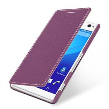 Кожаный чехол горизонтальная книжка (нат. кожа) для Sony Xperia C4