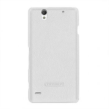 Кожаный чехол накладка (нат. кожа) для Sony Xperia C4