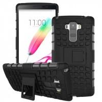 Силиконовый чехол экстрим защита для LG G4 Stylus Черный