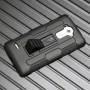 Антиударный силиконовый чехол с поликарбонатной крышкой и ножкой-подставкой для LG G4 Stylus
