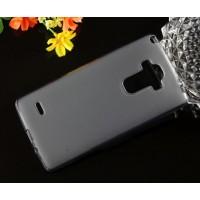 Силиконовый матовый полупрозрачный чехол для LG G4 Stylus Серый