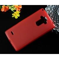Силиконовый матовый полупрозрачный чехол для LG G4 Stylus Красный