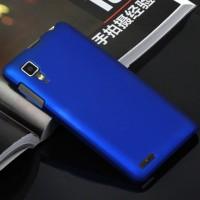 Пластиковый матовый непрозрачный чехол для Lenovo P780 Синий