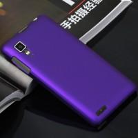Пластиковый матовый непрозрачный чехол для Lenovo P780 Фиолетовый