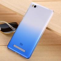 Пластиковый градиентный полупрозрачный чехол для Xiaomi Mi4i Синий