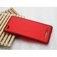Пластиковый матовый металлик чехол для Xiaomi Mi4i Красный