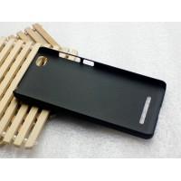Пластиковый матовый металлик чехол для Xiaomi Mi4i Черный
