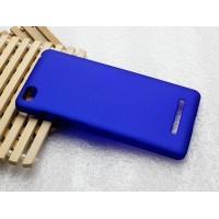 Пластиковый матовый металлик чехол для Xiaomi Mi4i Синий