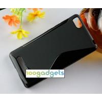 Силиконовый S чехол для Xiaomi Mi4i Черный