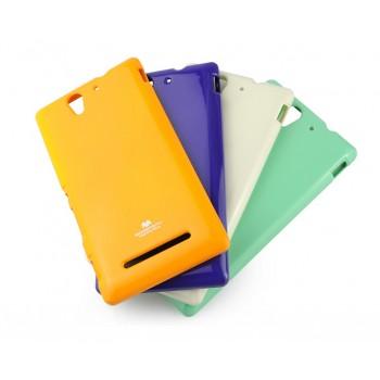 Силиконовый матовый непрозрачный чехол для Sony Xperia C3