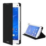 Кожаный чехол смарт флип подставка для Sony Xperia C3