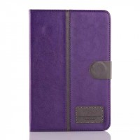 Кожаный чехол подставка с магнитной застежкой для Samsung Galaxy Tab A 8 Фиолетовый