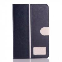 Кожаный чехол подставка с магнитной застежкой для Samsung Galaxy Tab A 8 Синий