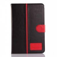 Кожаный чехол подставка с магнитной застежкой для Samsung Galaxy Tab A 8 Черный