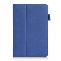 Чехол подставка с рамочной защитой и внутренними отсеками для Samsung Galaxy Tab A 8 Синий