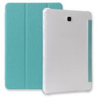 Текстурный чехол флип подставка сегментарный для Samsung Galaxy Tab A 9.7 Голубой