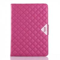Кожаный чехол подставка с внутренними отсеками для Samsung Galaxy Tab A 9.7 Пурпурный