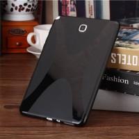 Силиконовый матовый X чехол для Samsung Galaxy Tab A 9.7 Черный