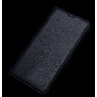 Кожаный чехол портмоне подставка (нат. кожа) для HTC One E9+ Черный
