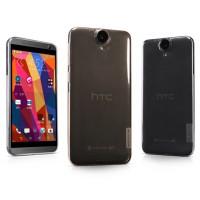Силиконовый матовый полупрозрачный чехол для HTC One E9+